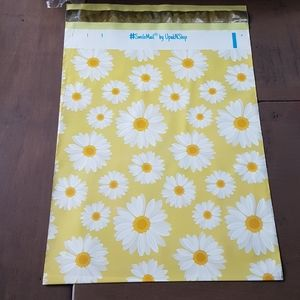 """25 pcs Daisy Poly Mailers 10""""x13""""+25 Packing Slip"""